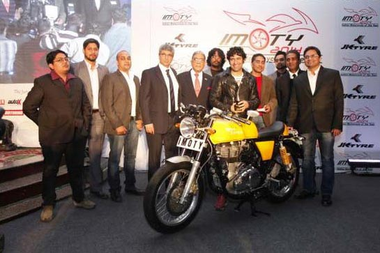 Royal Enfield Cafe Racer Indian Motorcycle of the Year IMOTY 2014